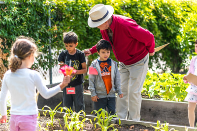 Teaching students to garden
